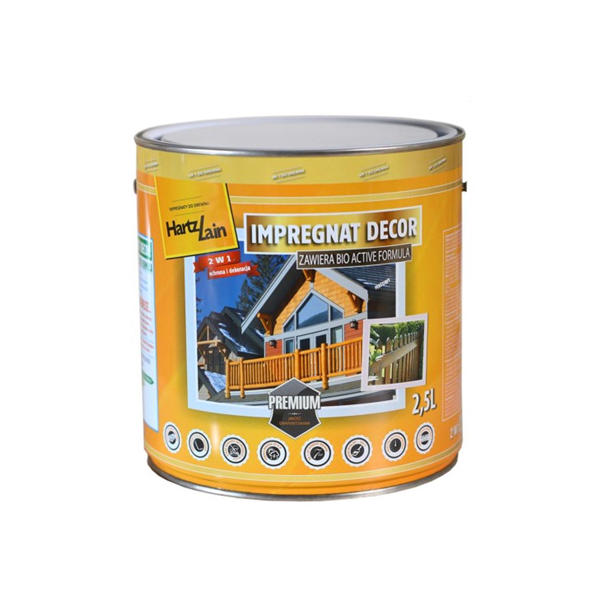 Impregnat Decor - zawiera aktywne substancje skutecznie zabezpieczające drewno przed grzybami i owadami